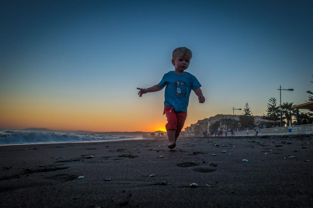 Sam op het strand