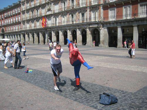 Jeroen en Spiderman
